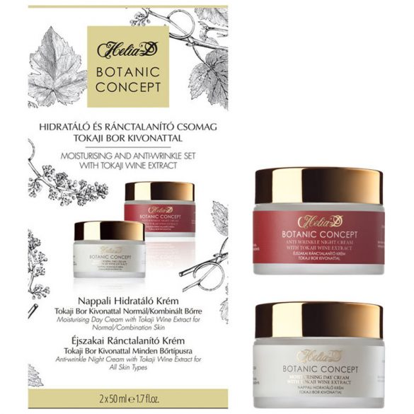 Helia-D Botanic Concept Moisturising and Anti-wrinkle Set with Tokaji Wine Extract