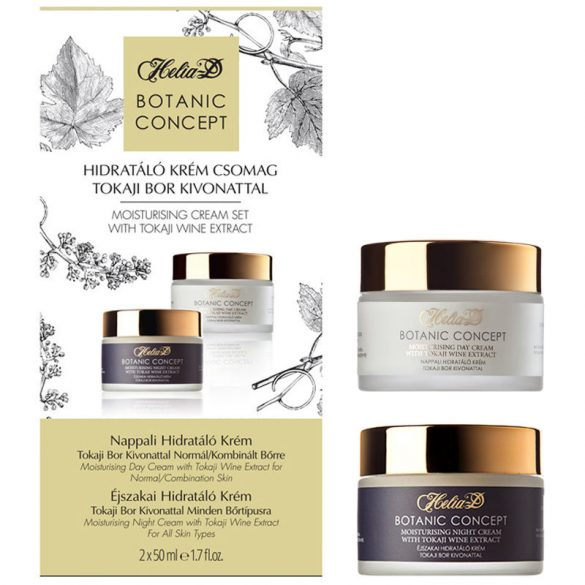 Helia-D Botanic Concept Moisturising Cream Set with Tokaji Wine Extract